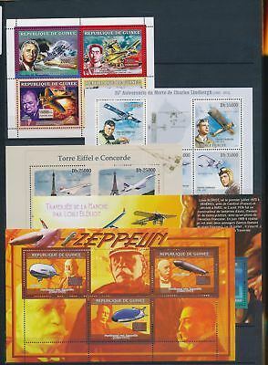 AB7-2315 World aviation aircraft airplanes fine lot of sheets MNH