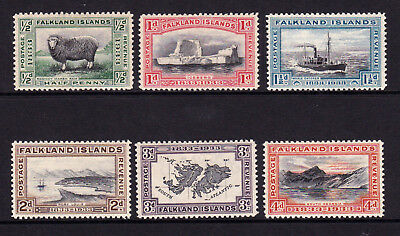 FALKLAND ISLANDS. SG 127-132, 1/2d to 4d. MOUNTED MINT.