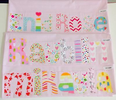 Personalised Gift Children's Appliqued Pillowcase Light Pink