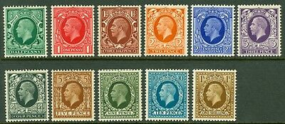SG 439-449. 1934 photo set of 11 values. Fine mint, 10d & 1/- being unmounted