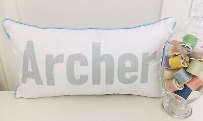Personalised Gift Name Pillow Cushion - Slim Font