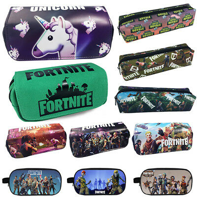 FORTNITE Battle Royale Game Pencil Case Pen Box Bag Kids Stationary Boys Girls