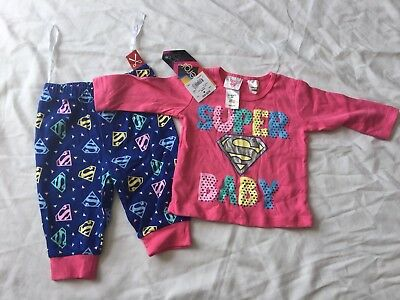 Baby Supergirl Winter PJs size 000 BNWT