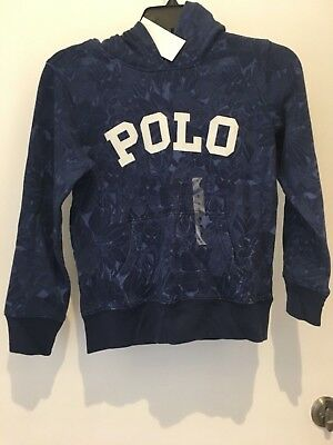 Polo Ralph Lauren Garçons Enfants Bleu Marine Tropical Sweat-Shirt à Capuche 8ee04236b85