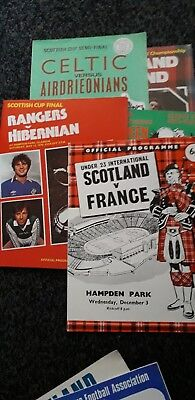 Job Lot Of Scottish Football Programmes Various