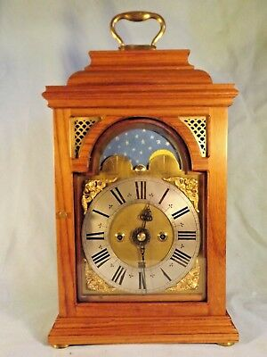 Oak Moonphase Twin Fusee Bracket Clock.