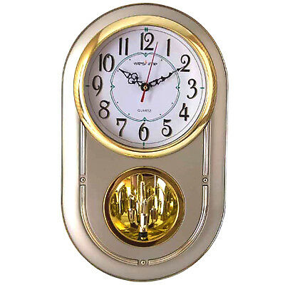 Westtime  Wall Clock  Large Display glass CHIME EVERY HOUR PENDULUM  NAH2777
