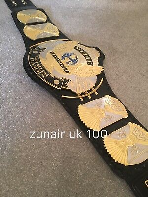 WWF Winged Eagle Replica  Dual Plated Silver/gold Leather Belt ,Free Carry Case
