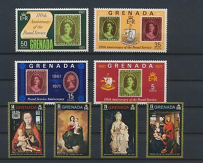 LJ59860 Grenada paintings postal service fine lot MNH