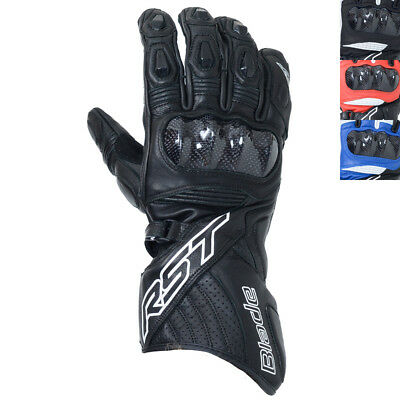 NEW RST Mens Motorcycle Blade II CE Leather Sport Summer Gloves
