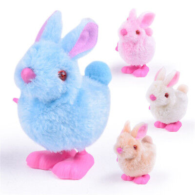 Pluh Bunny Toys Infant Child Stuffed Toys Hopping Wind Up Collect Easter Gift