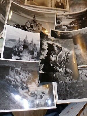 Lot Of 7  European Castles Photos From Us Air Force 1970's Era
