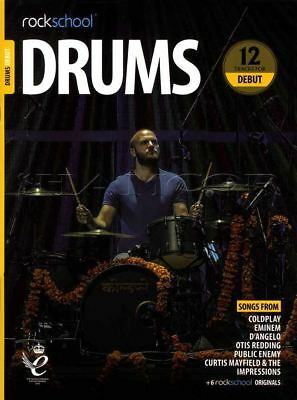 Rockschool Drums Debut 2018-2024 Sheet Music Book/Audio Exercises Tests Songs