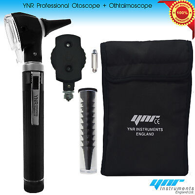YNR®Fiber Optic Otoscope Ophthalmoscope LED ENT Diagnostic Examination Kit CE UK