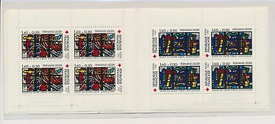 LJ61239 France 1981 stained-glass art red cross fine booklet MNH