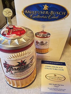 Budweiser bud Anheuser Busch AB 2007 membership Collection   Faust   New in box