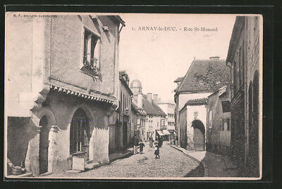 CPA Arnay le Duc, Rue St. Honore 1909