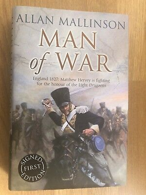 MAN OF WAR 1st / 1st Ed. ALLAN MALLINSON  SIGNED BY THE AUTHOR *UNREAD*