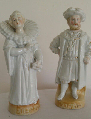Antique Elizabeth & Henry V111 Porcelain Figurines
