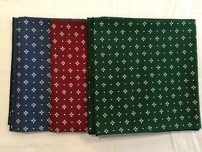 """Longaberger 45"""" Fabric Square - Heritage Green, Classic Blue, Traditional Red -3"""