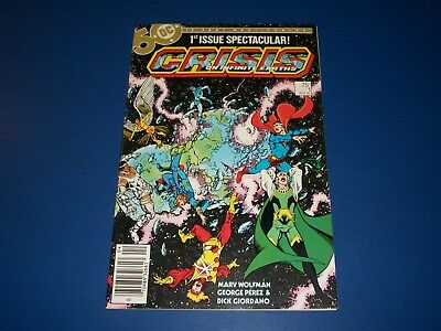 Crisis on Infinite Earths #1 1st Blue Beetle in DC Key VF Beauty Justice