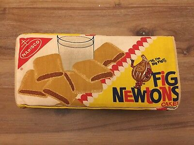 Vtg RARE NABISCO FIG NEWTONS CAKES promotional advertising PILLOW