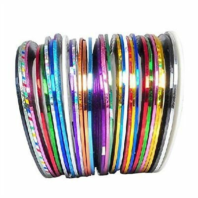 30 Color Rolls Striping Tape Line Nail Art Decoration Sticker Pretty Fashion Hot