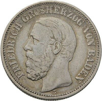 Künker: Baden, Friedrich I., 2 Mark 1892 G