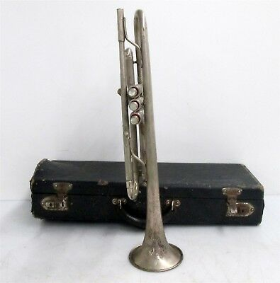 Vintage Silver Plated Trumpet sn 7806 w/ Hard Case
