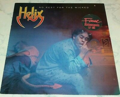 Helix - No Rest For The Wicked Lp / Ois / Capitol Records Nl 83