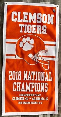 Clemson Tigers 2018 Football NCAA National Champions Banner