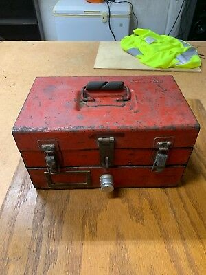 Vintage Lockable Snap-on Snapon Small Sliding Removable Tray Tool Box USA