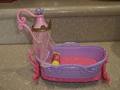 "Tollytots Limited Disney Baby Princess Rocking Cradle Bed Crib  8""X4"" Doll House"