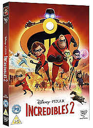Incredibles 2 DVD 2018 Brand New.