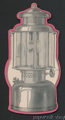 Original ca1930 Coleman Lamp Company's Quick-Lite Lantern Advertising Card