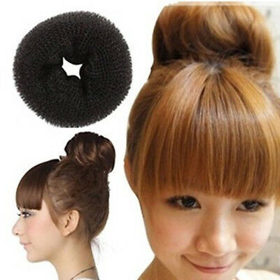 Women Girl's Sponge Hair Bun Maker Ring Donut Shape Hairband Stylish Bun Maker