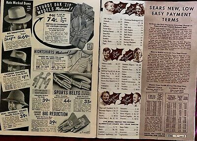 Vintage Sears Roebuck And Co Catalogs -Christmas 1937 & Spring 1938