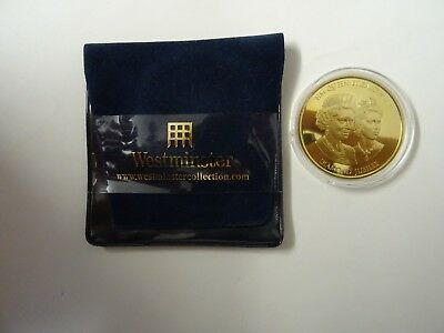 2012 Diamond Jubilee of QEII The Royal British Legion Gold Plated Medal in pouch