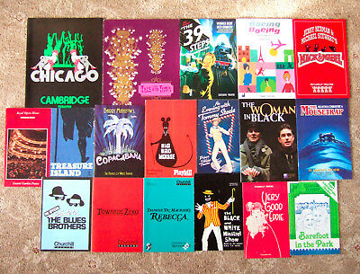 Job Lot / Collection / Assortment Of 18 London Theatre Programmes, 1962-2008