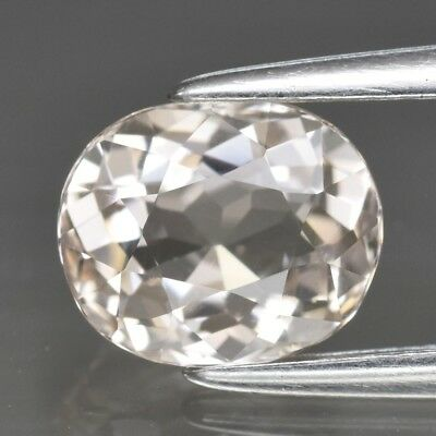 Top! VVS 0.99ct 7x5.8mm Oval Natural Unheated Light Peach Morganite