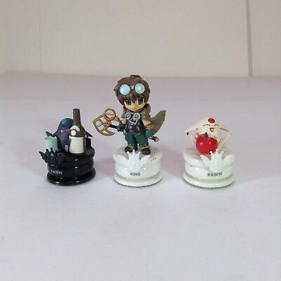 "Lot Of 3 Clamp No Kiseki Chess Piece Figures 1.5-3"" L1"