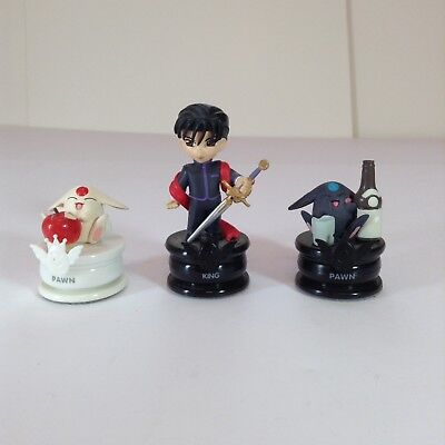 "Lot Of 3 Clamp No Kiseki Chess Piece Figures 1.5-3"" L4"
