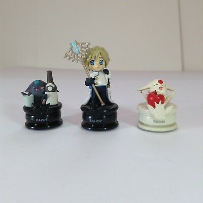 "Lot Of 3 Clamp No Kiseki Chess Piece Figures 1.5-3"" L6"