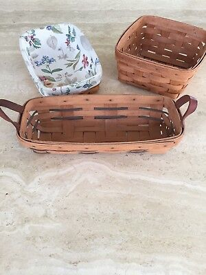 Longaberger Baskets - Lot Of 3, From 1990, 2000 All In Great Condition