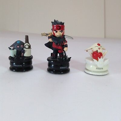 "Lot Of 3 Clamp No Kiseki Chess Piece Figures 1.5-3"" L7"