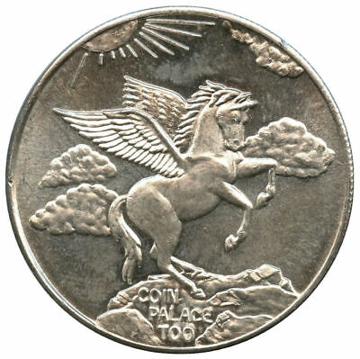 Vintage Coin Palace Too Pegasus 1 oz .999 Fine Silver Trade Unit Round