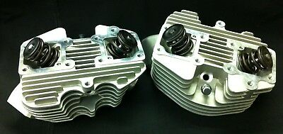 "Ultima Natural Finish Stock 74"" & 80"" Front & Rear Cylinder Head Set For Shovel"