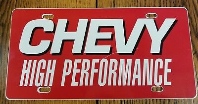 Vintage Chevy High Performance Car License Plate