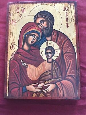 Orthodox Christian Icon Greece Byzantine Hand Painted Gold Leaf 25X19 Cm
