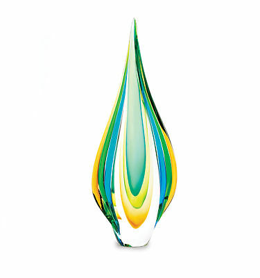 Accent Plus - Cool Flame Art Glass Statue